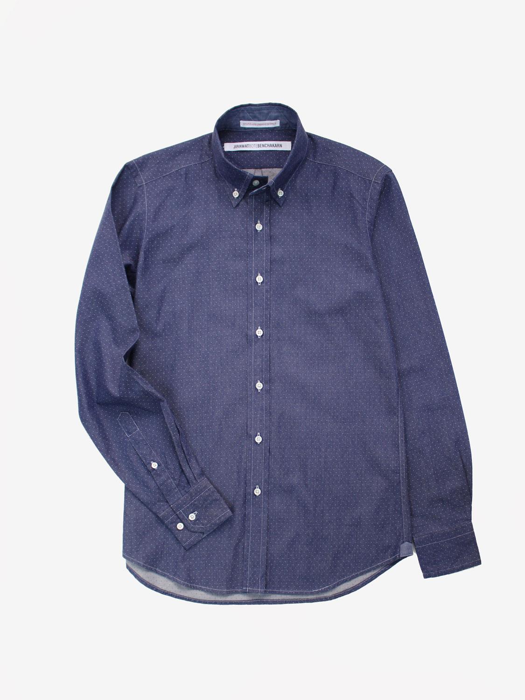 0fe454d9ff Polka-dot Dark Indigo Denim Shirt – JBB